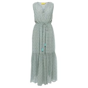 Roller Rabbit's Lam Gauri Maxi Seafoam Dress Long